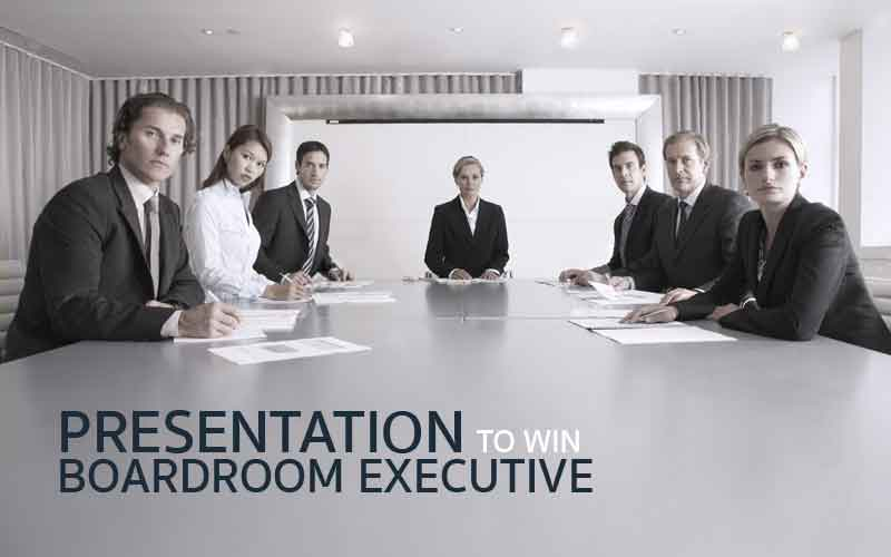 PRESENTATION TO WIN BOARDROOM EXECUTIVE