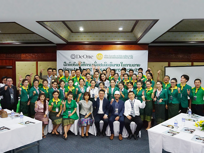 PHONGSAVANH INSURANCE (APA) CO., LTD. อบรมหลักสูตร HOW TO BOOST UP SALES PRODUCTIVITY